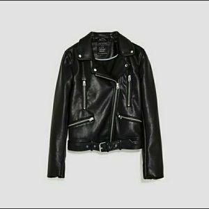 Zara Motto jacket/biker jacket